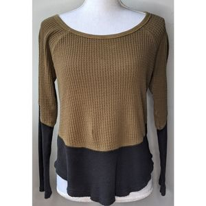 Anthropologie   Cotton Color block thermal